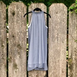 Navy Blue Gingham Dress by Buttons